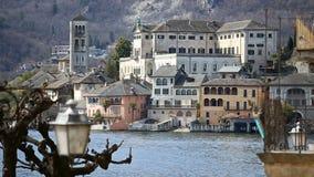Orta San Giulio, lago Orta, Itália filme