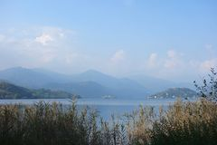 Orta See Piemont Italien lizenzfreies stockfoto