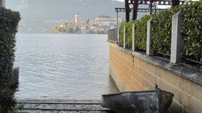 Orta See - San Giulio Island stockfotografie