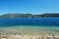 Orta Seelandschaft Stockbild