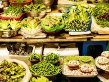Ortaggi freschi al mercato di Gwangjang Seoul, il Sud Corea Cibo sano per il vegetariano fotografia stock