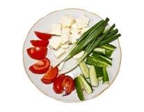 Ortaggi freschi e formaggio Fotografie Stock Libere da Diritti
