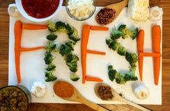 Ortaggi freschi e spezie - ingredienti della minestra immagini stock