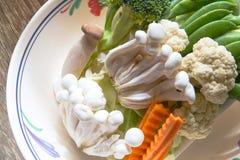 Ortaggi freschi per la cottura casalinga, scalpore fritti Immagini Stock Libere da Diritti