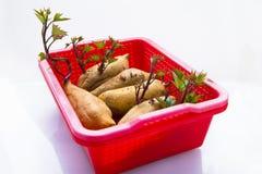 Ortaggi a radici, radici, sane, patate dolci, alimento principale umano fotografia stock libera da diritti