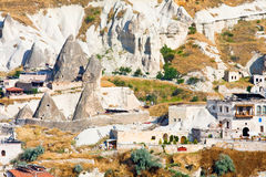 Ortahisar cave city in Capapdocia, Turkey Royalty Free Stock Images