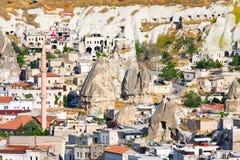 Ortahisar cave city in Capapdocia, Turkey Stock Photography