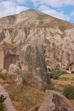 Ortahisar cave city in Cappadocia - Landscape, Turkey Royalty Free Stock Images