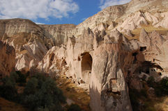 Ortahisar cave city in Cappadocia - Landscape, Turkey Royalty Free Stock Photography