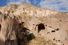 Ortahisar cave city in Cappadocia - Landscape, Turkey Royalty Free Stock Photo