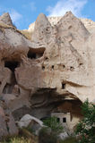 Ortahisar cave city in Cappadocia - Landscape, Turkey Stock Photo