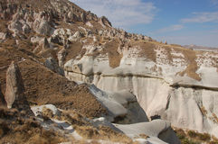 Ortahisar cave city in Cappadocia - Landscape, Turkey Stock Photography
