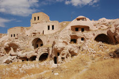 Ortahisar cave city in Cappadocia - Landscape, Turkey. City in Cappadocia - Landscape, Turkey Royalty Free Stock Photos