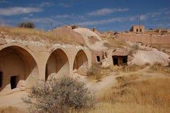 Ortahisar cave city in Cappadocia - Landscape, Turkey stock image