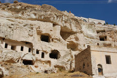 Ortahisar cave city in Cappadocia - Landscape, Turkey Stock Photos