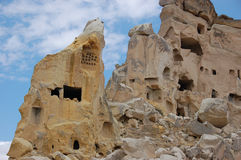 Ortahisar cave city in Cappadocia - Landscape, Turkey. City in Cappadocia - Landscape, Turkey Royalty Free Stock Image