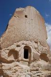 Ortahisar cave city in Cappadocia - Landscape, Turkey royalty free stock photography