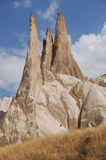 Ortahisar cave city in Cappadocia - Landscape, Turkey. City in Cappadocia - Landscape, Turkey Stock Images