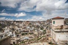 Ortahisar - eine alte Felsenstadt Lizenzfreies Stockfoto