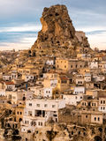 Ortahisar Village and Castle in Cappadocia, Turkey Stock Photo