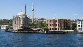 Ortaköy清真寺, Ortaköy,伊斯坦布尔,土耳其 免版税库存图片
