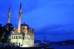 Ortaköy mosque Stock Photo