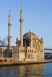 ortakoy伊斯坦布尔的清真寺 库存图片