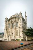Ortakoy清真寺外部在伊斯坦布尔,土耳其 库存图片