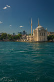 Ortakoy Buyuk Mecidiye Mosque in Istanbul royalty free stock photo