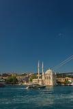 Ortakoy Buyuk Mecidiye Mosque in Istanbul Royalty Free Stock Photography