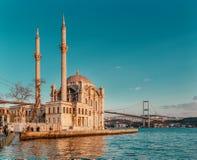 Ortakoy Istanboel Stock Afbeelding