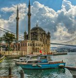 Ortakoy. Istanbul mosgue Royalty Free Stock Images