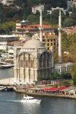 Ortakoy Moschee stockfoto