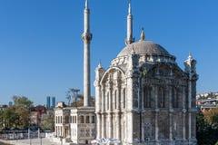Ortakoy-Moschee auf Bosphorus, Istambul Stockfotografie