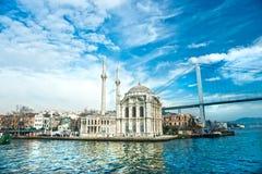 Ortakoy Moschee, Istanbul, die Türkei. Stockbild