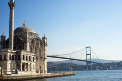 Ortakoy Moschee, Istanbul, die Türkei Lizenzfreies Stockbild