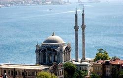 Ortakoy Moschee in Istanbul die Türkei lizenzfreie stockfotos
