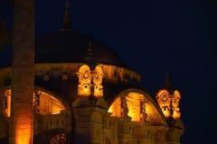 Ortakoy Moschee nachts lizenzfreies stockfoto