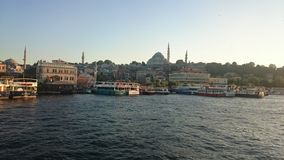 Ortakoy-Moschee und Bosphorus-Brücke, Istanbul, die Türkei lizenzfreies stockbild