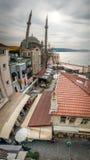 Ortakoy moské i Istanbul, Turkiet Arkivbilder