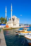 Ortakoy Mosque Stock Photography