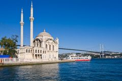 Ortakoy Mosque Royalty Free Stock Photos