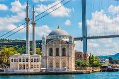 Ortakoy Mosque Stock Photography
