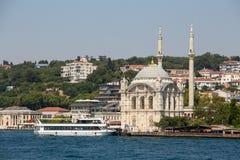 Ortakoy Mosque in Besiktas district , Istanbul, Turkey Royalty Free Stock Image