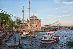 Ortakoy Mosque in Besiktas, Istanbul, Turkey, Royalty Free Stock Image