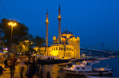Ortakoy Mosque in Besiktas, Istanbul Royalty Free Stock Photography