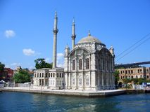 Ortakoy Mosque at Bosphorus Royalty Free Stock Photo