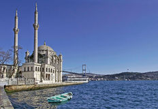 Ortakoy Mosque and The Bosphorus Bridge Royalty Free Stock Image