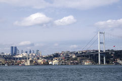 Ortakoy mosque and bosphorus bridge in istanbul Royalty Free Stock Images