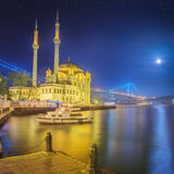 Ortakoy mosque and Bosphorus Bridge Istanbul Royalty Free Stock Photography